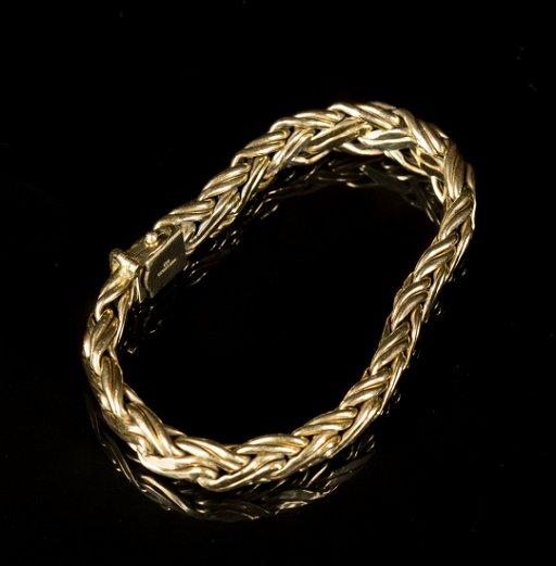 Tiffany & Co , yellow gold bracelet, marked 585(14K)