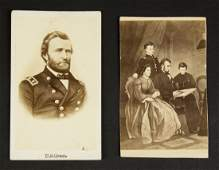 Two CDV's: Abraham Lincoln and Ulysses S. Grant.