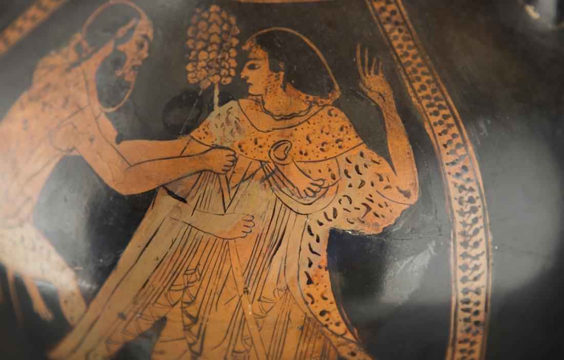 Ancient Greek Red Figure Amphora Vase - 3