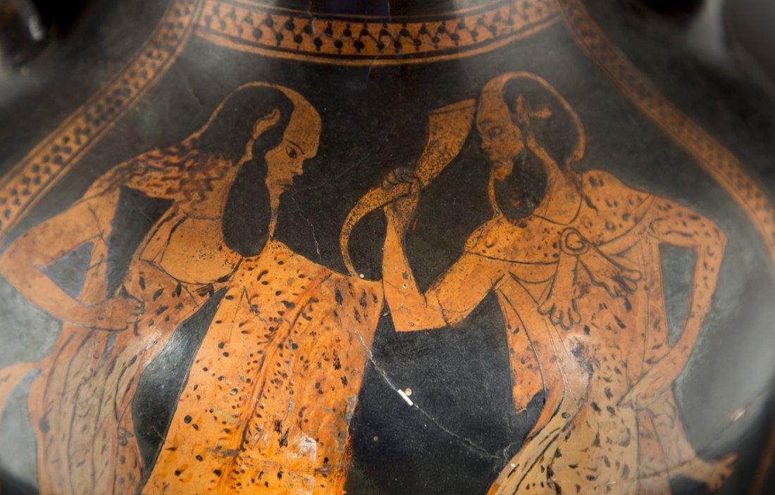 Ancient Greek Red Figure Amphora Vase - 5