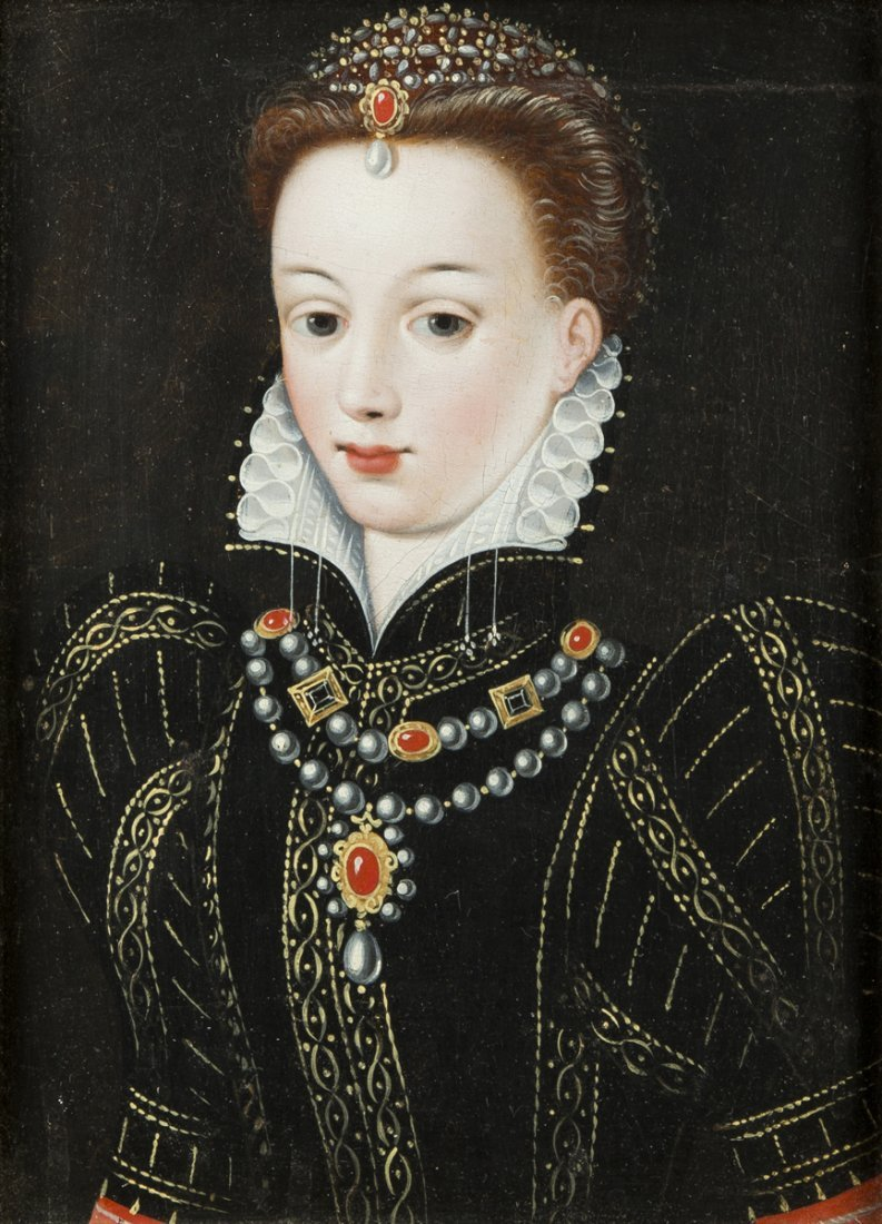 Elizabethan Painting of a Young Woman