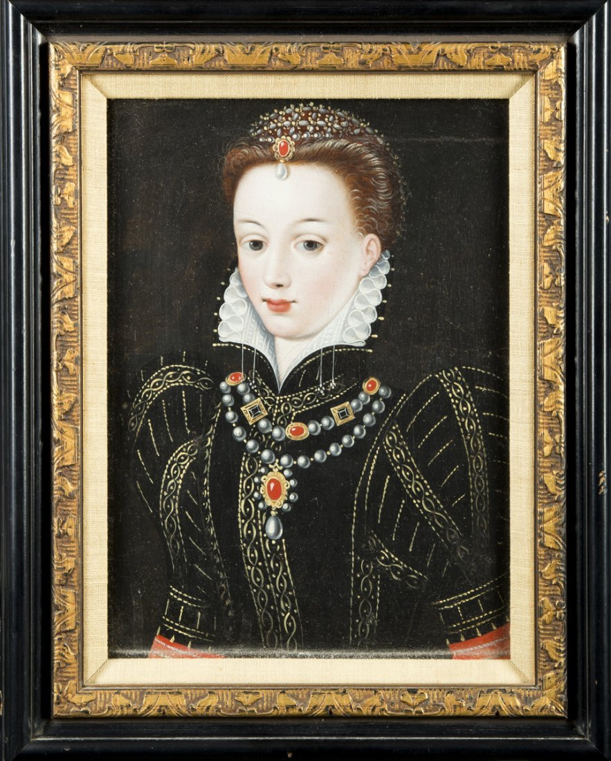 Elizabethan Painting of a Young Woman - 2