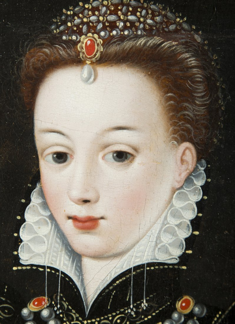 Elizabethan Painting of a Young Woman - 3