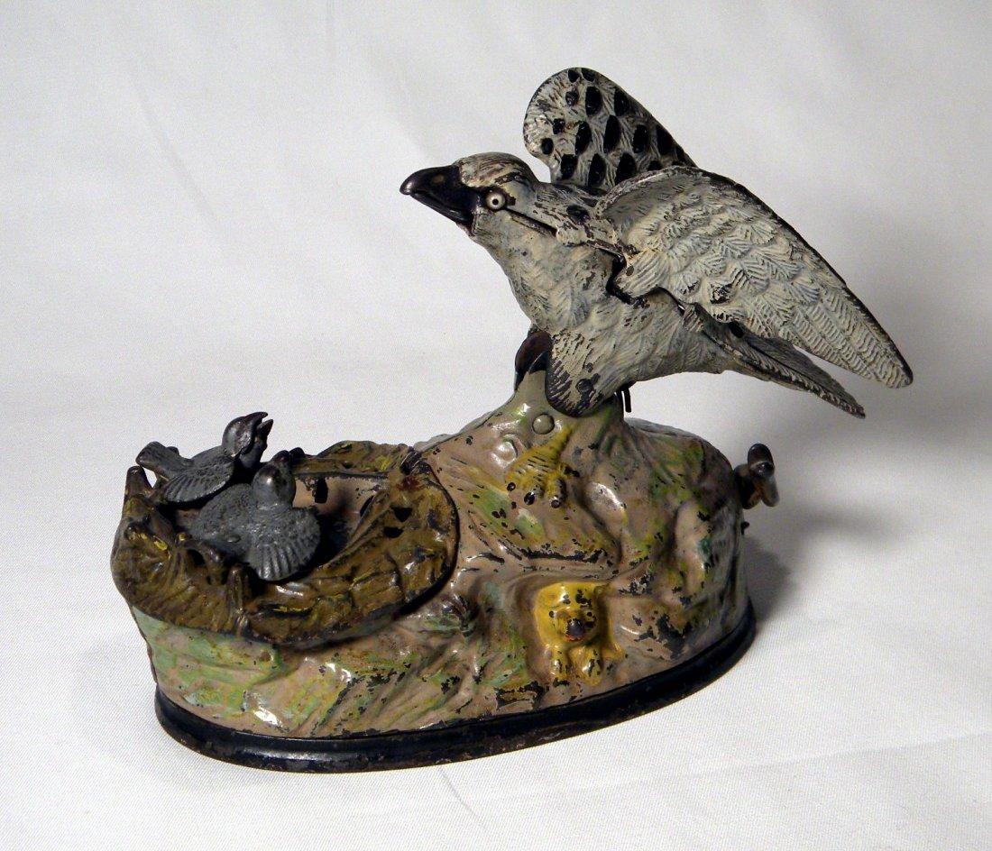 Eagle and Eaglets Mechanical Bank