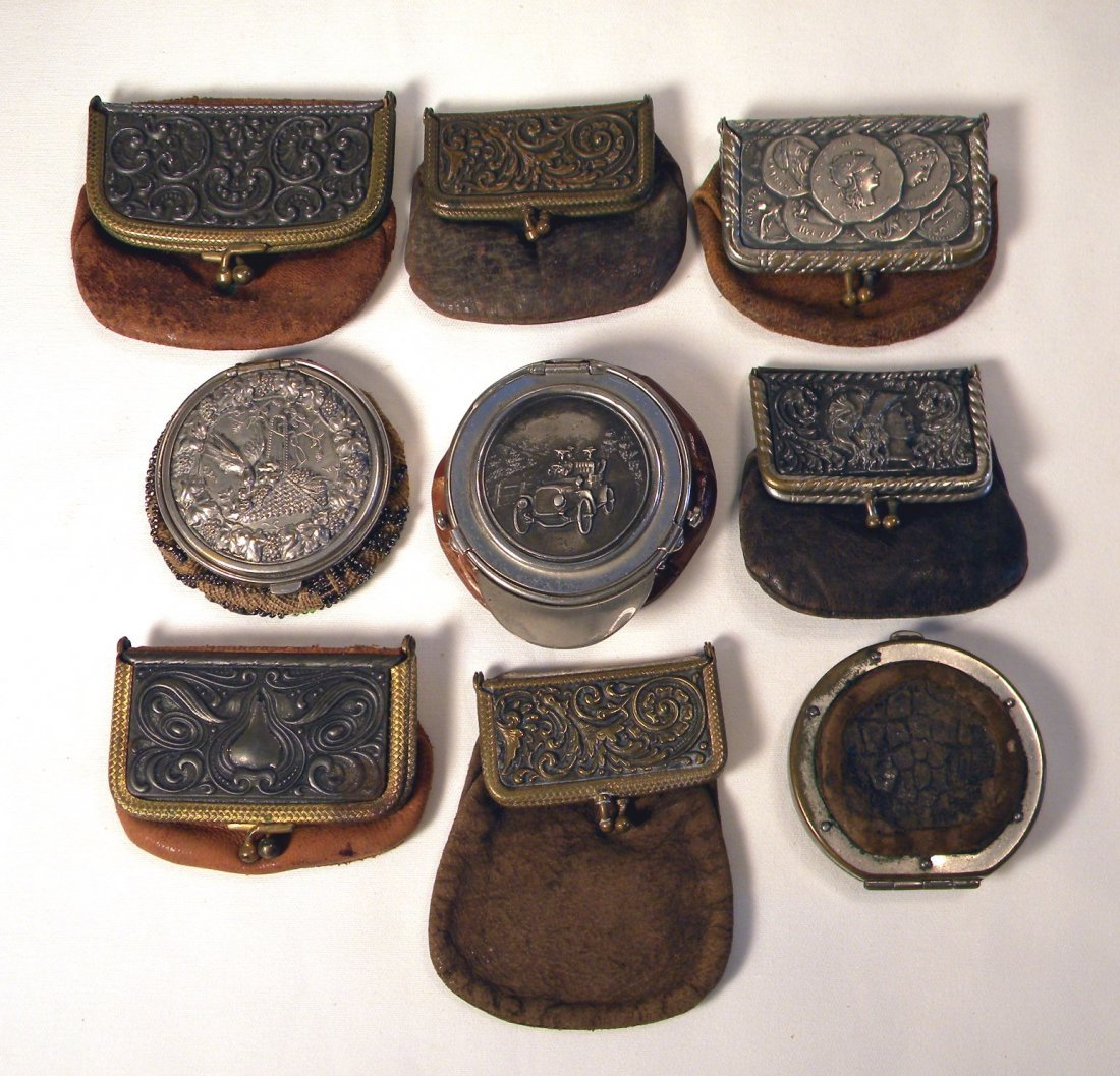 Lot of Nine Coin Purses