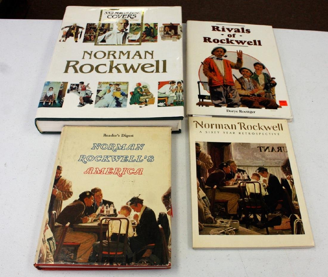 Norman Rockwell: Lot of Four(4) Books