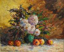 Sha Qi Sadji(20thC. Chinese); Oil Painting Signed