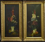George Henry Hall(attributed to); Pair of Oil Still