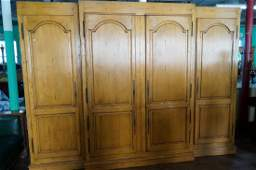 Country French Three(3) Section Pine Armoire