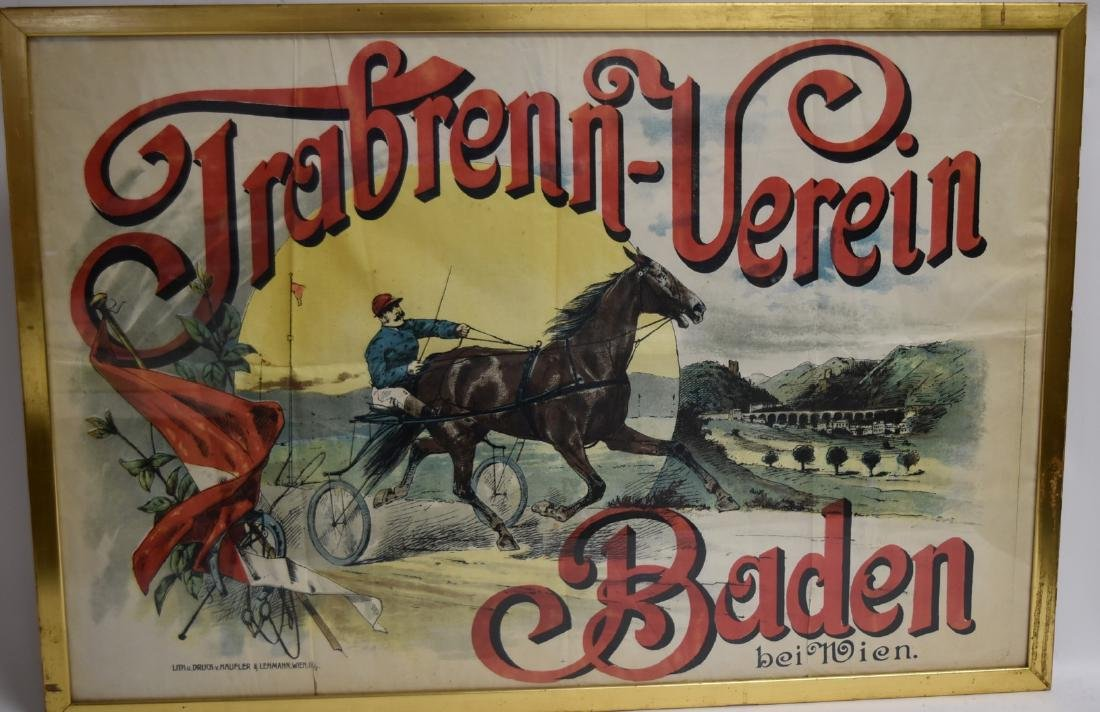 19thC. German Lithographed Poster