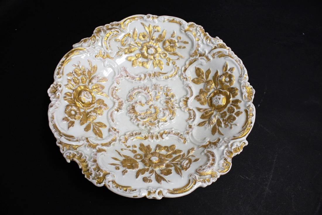 Dresden Porcelain Bas Relief Charger