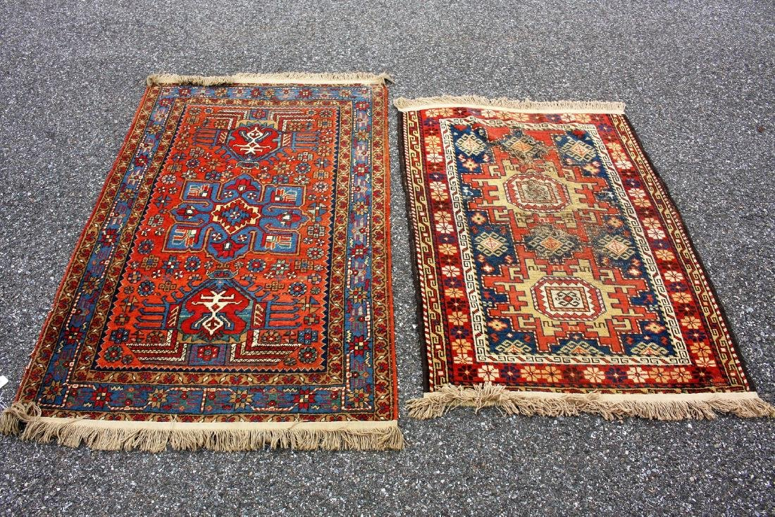 Two(2) Antique Persian Scatter Rugs