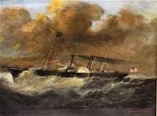 Antonio Jacobsen; 19thC. American Oil Painting Signed