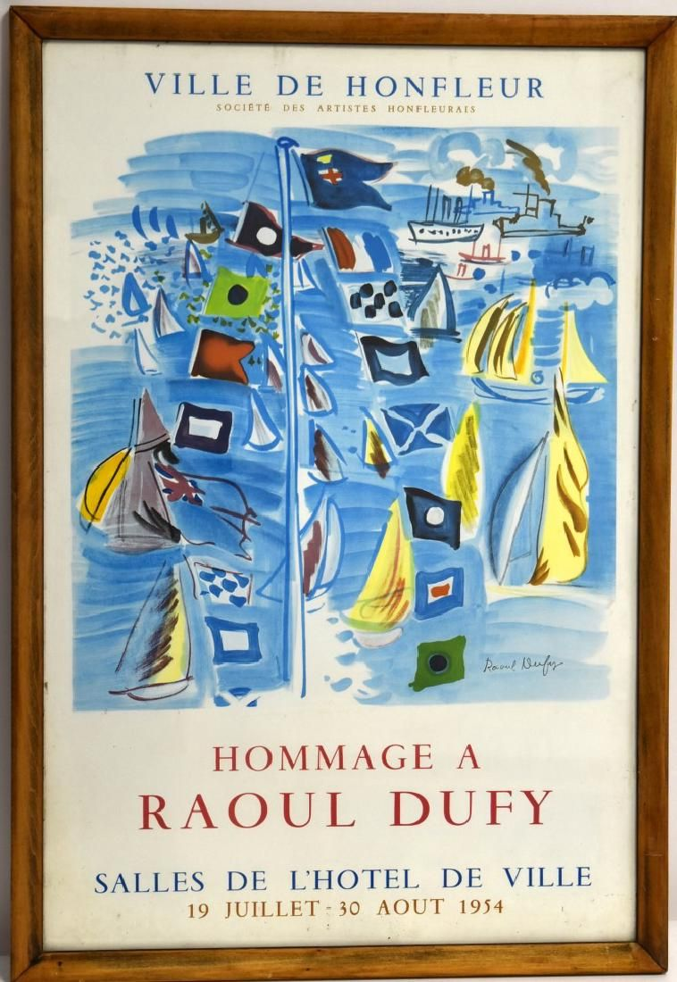Raoul Dufy 1954 Exhibition Poster