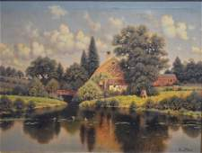 George W. Drew; American Oil Painting Signed