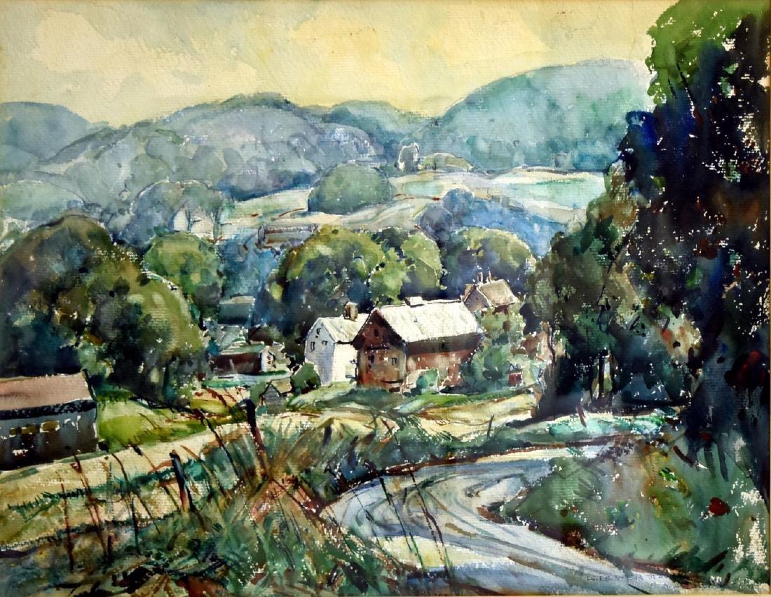 William Lester Stevens; American Watercolor Signed