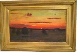 Martin Johnson Heade(school of); Oil - Marsh Landscape