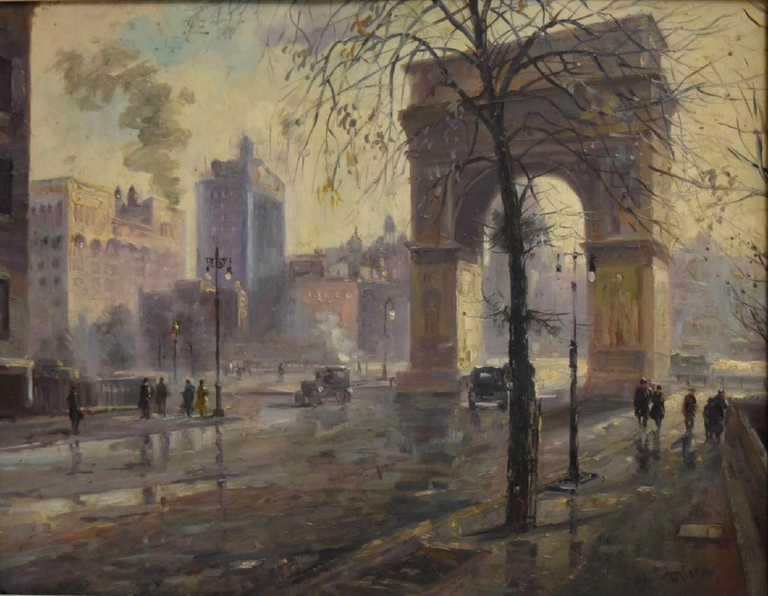 Alfred Mira; American Oil - Washington Square Signed