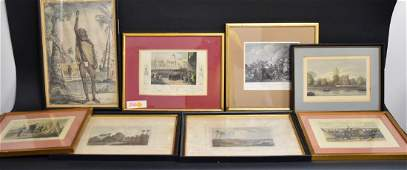Lot of Eight(8) Miscellaneous Framed Prints