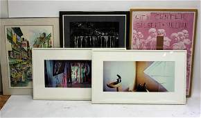 Lot of Five(5) Miscellaneous Framed Prints