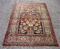 Antique Persian Estate Carpet 45 x 66