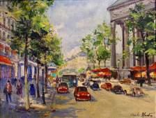 Charles Blondin; 20thC. French Oil - Paris Street