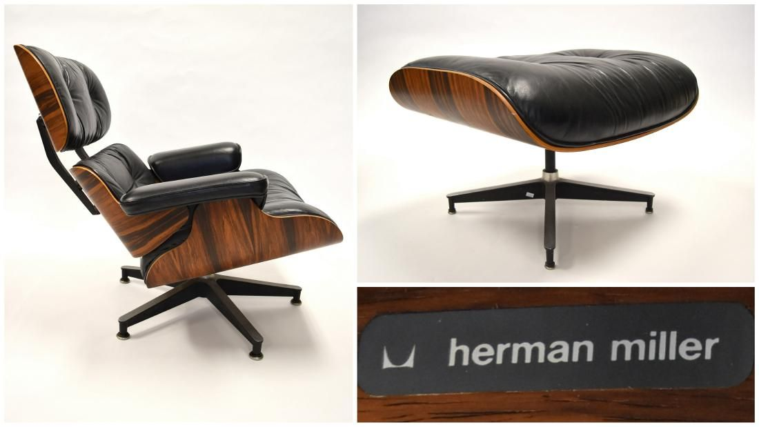 Herman Miller Rosewood Eames Lounge Chair and Ottoman