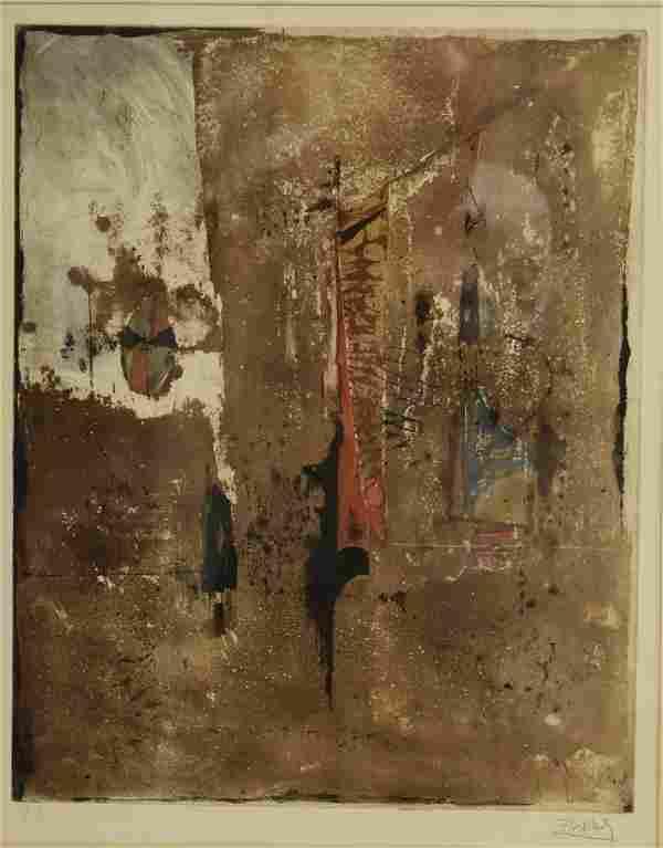 Johnny Friedlaender; 20thC. Modernist Aquatint. Signed