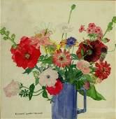 Elizabeth L. Hammell; American Watercolor Signed