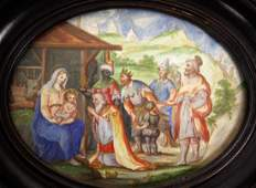 Early Continental School; Miniature Watercolor