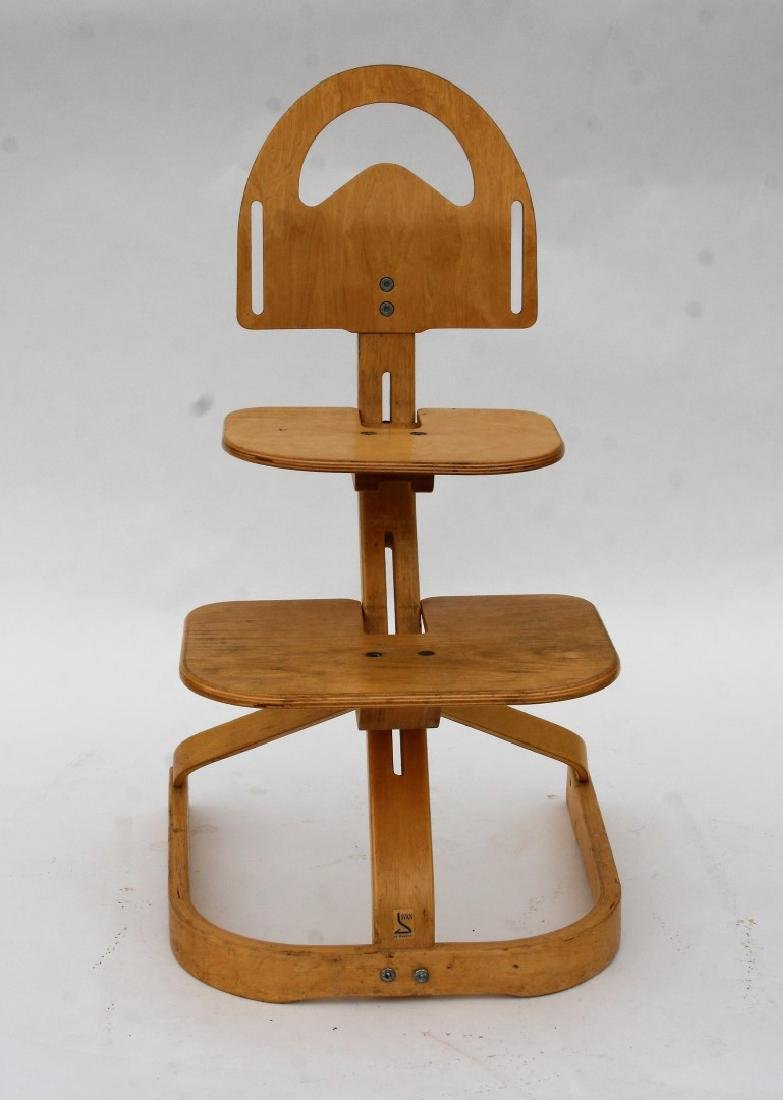 & Swedish Modern Laminated High Chair
