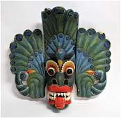 Thailand Cedar Ceremonial Mask