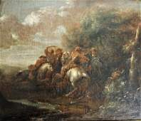Charles Van Falens; 18thC. Flemish Oil Painting