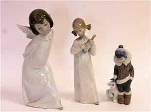 Three3 Lladro Porcelain Figures