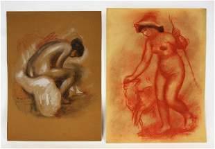 Pierre Auguste Renoirafter Two Prints