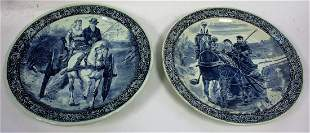 Pair of Delft Pottery Chargers