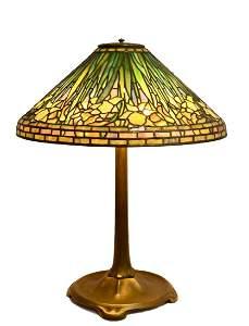 Tiffany Studios Daffodil Table Lamp Signed