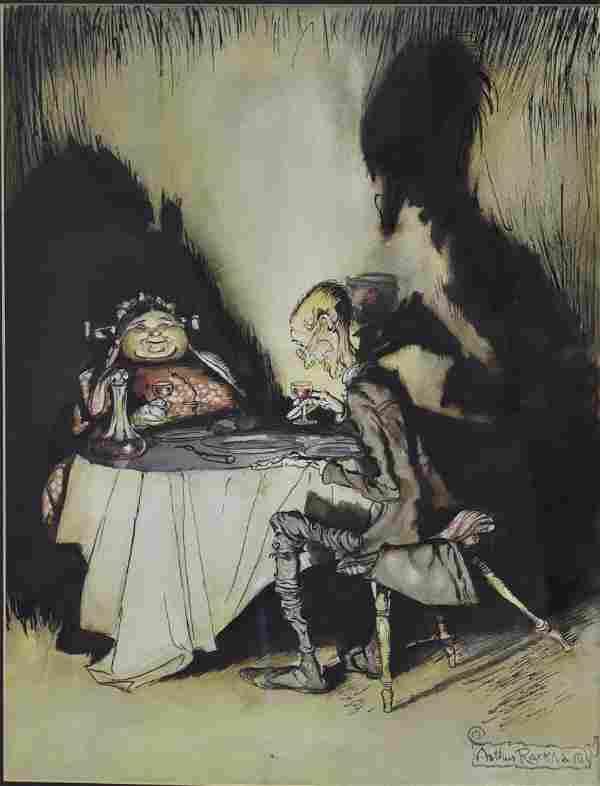 Arthur Rackham; 20thC. English Illustration Signed