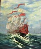 Harvey Dunn; 20thC. American Oil Painting Signed