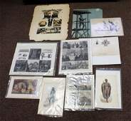 Lot of Miscellaneous 19thC Engravings and Prints10