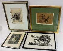 Four(4) Miscellaneous Framed Prints