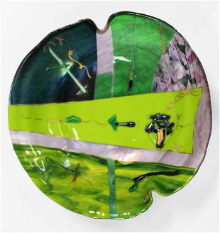 Marilyn Catlow Studio Art Glass Bowl
