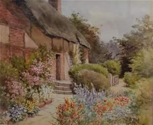 Jane B Reid American Watercolor Signed