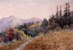 J. Hamilton; American Watercolor Landscape Signed