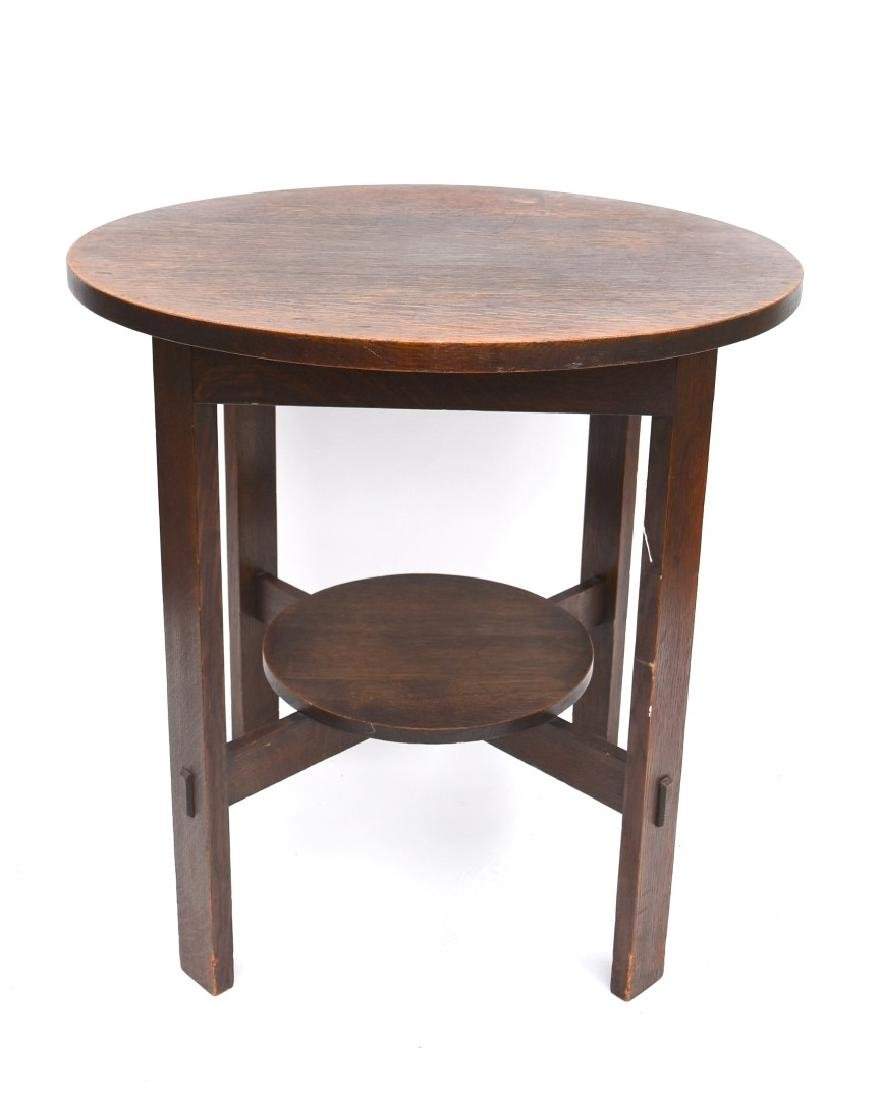 Stickley Arts U0026 Crafts Mission Oak Round Table