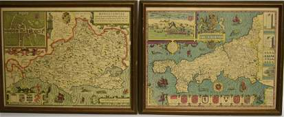 Two2 Early Hand Colored Maps