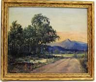Warren F. Snow; American Oil - Landscape Signed