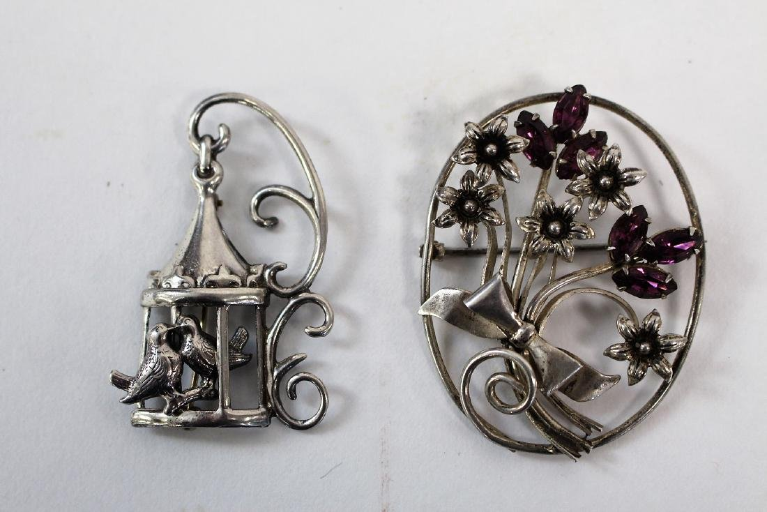 Two(2) Vintage Sterling Silver Pins