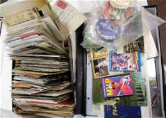 Lot of Miscellaneous Postcards Baseball Cards Etc