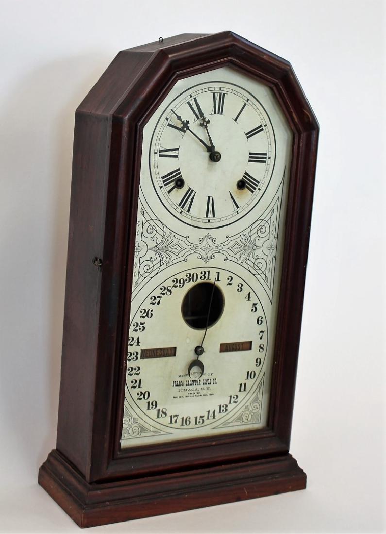 Ithaca Double Dial Calendar Clock - 2